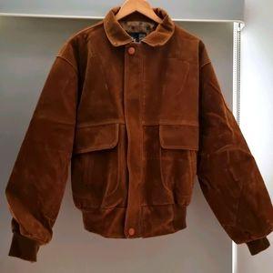 Men's Italian Leather Jacket - Size Large